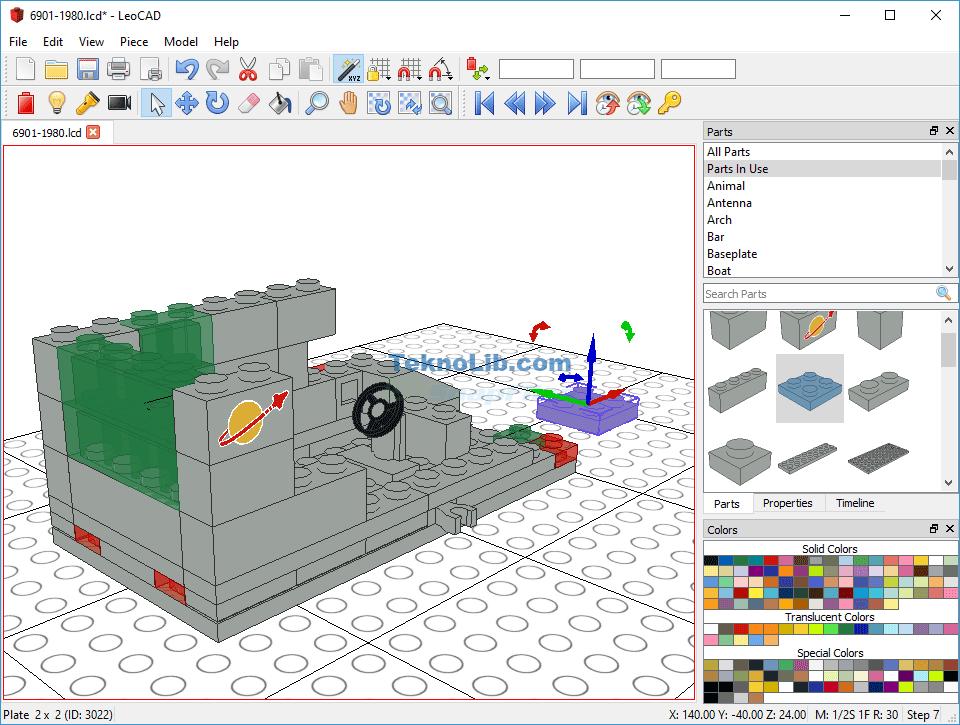 screenshot of LeoCad