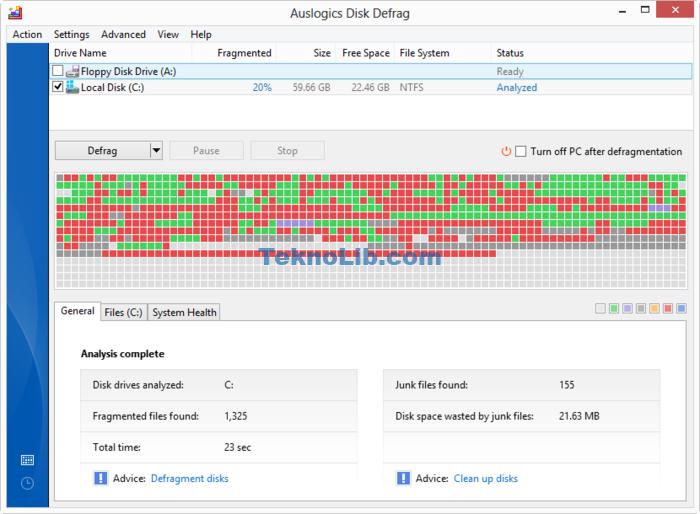 Auslogics Disk Defrag indir ile ilgili görsel sonucu