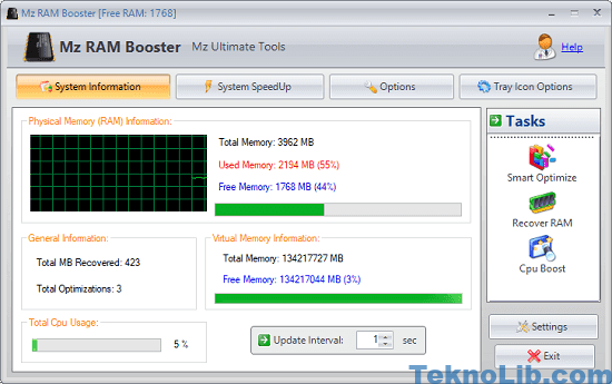 free RAM booster software for Windows
