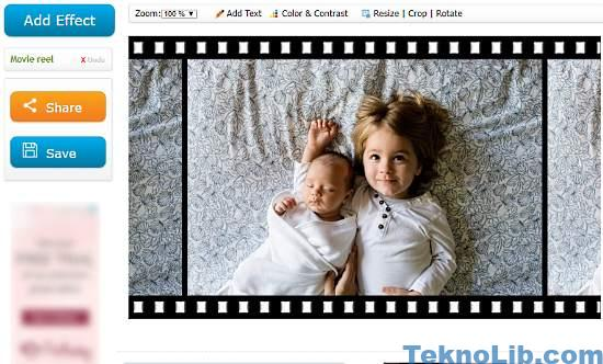 make photo filmstrip online