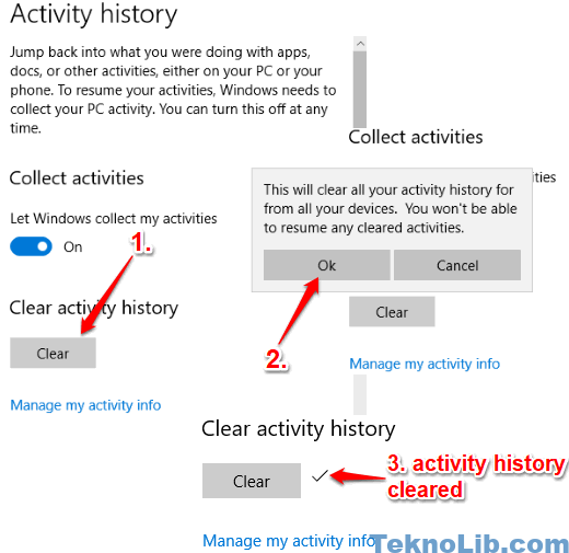 clear activity history