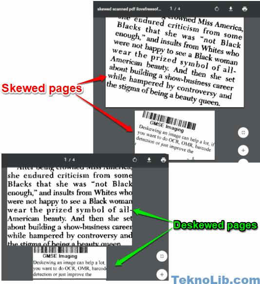 pdf files deskewed automatically