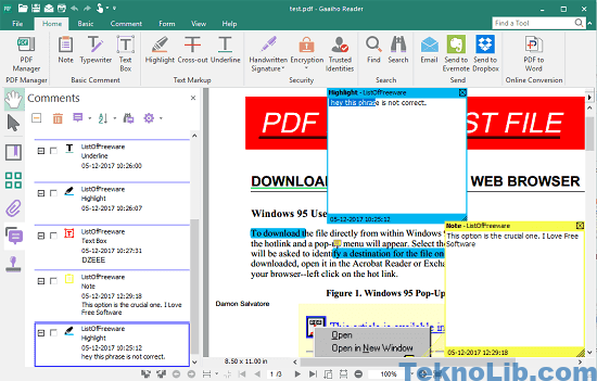 Gaaiho PDF Reader open XFDF files
