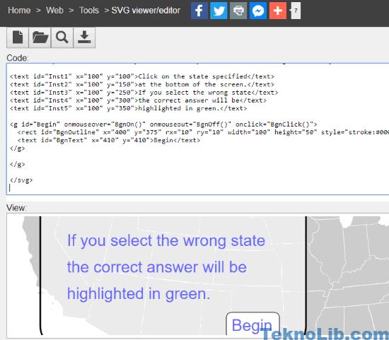 SVG viewer editor interface