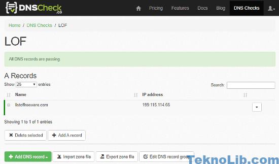DNS Check: dns monitoring