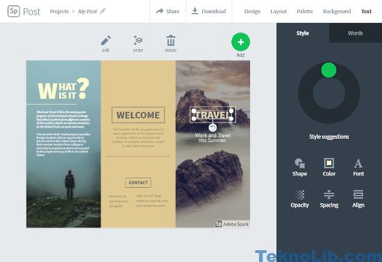 Adobe Spark: online brochure maker