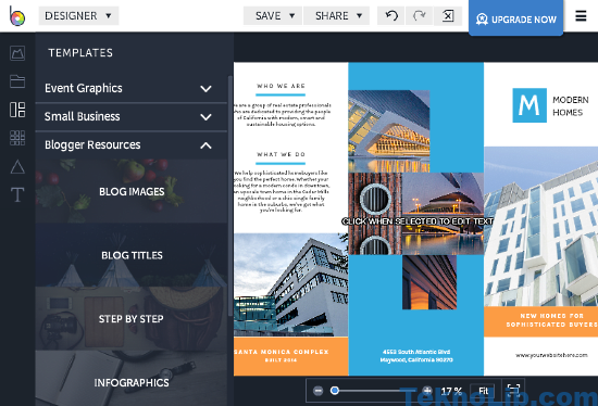 BeFunky: online brochure maker