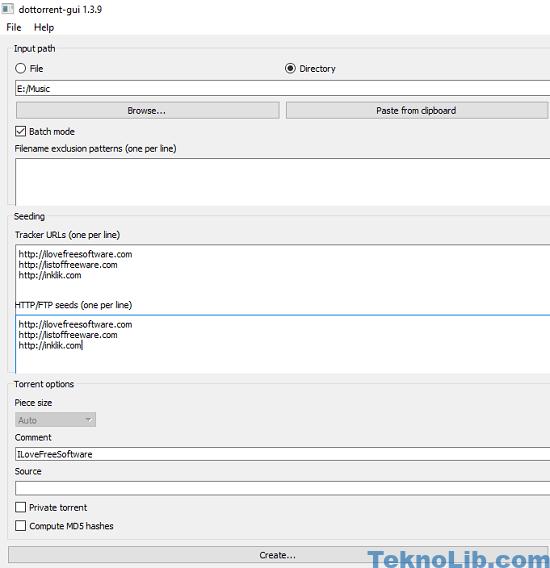 dotorrent add torrent information