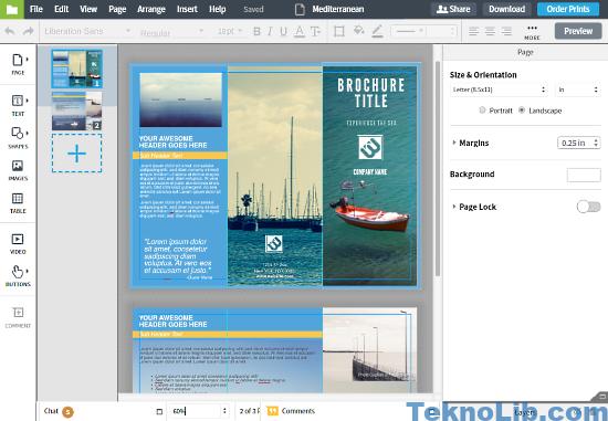 Lucidpress: online brochure maker