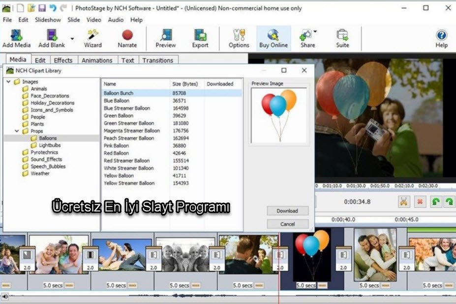 PhotoStage Slideshow Creator Software slayt programı