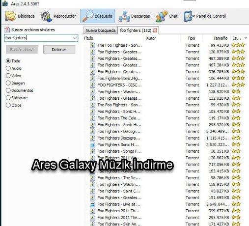 ares galaxy müzik indirme programı