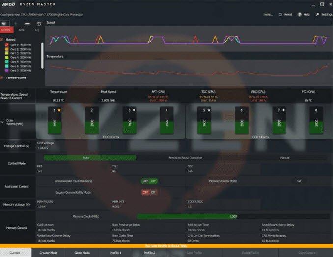 AMD Ryzen Master amd ekran kartı hız aşırtma programları