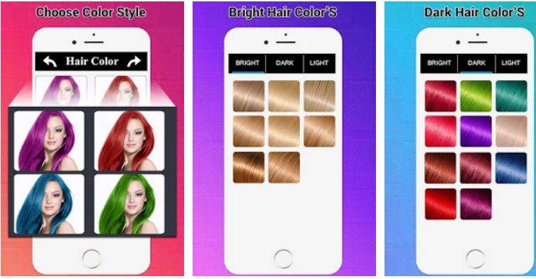 Android Saç Rengi Değiştirme Uygulamaları 2