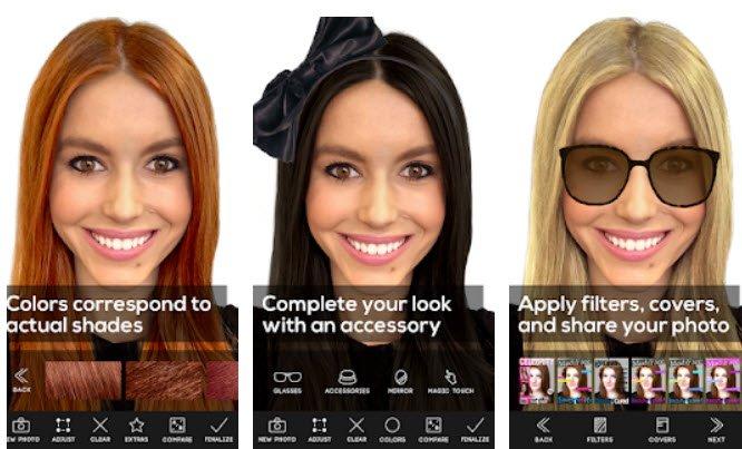 Android Saç Rengi deneme uygulaması