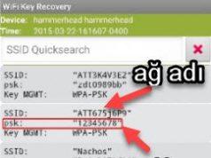 Android WiFi Şifresini görme nasıl öğrenirim
