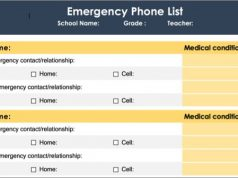 Emergency Contact List
