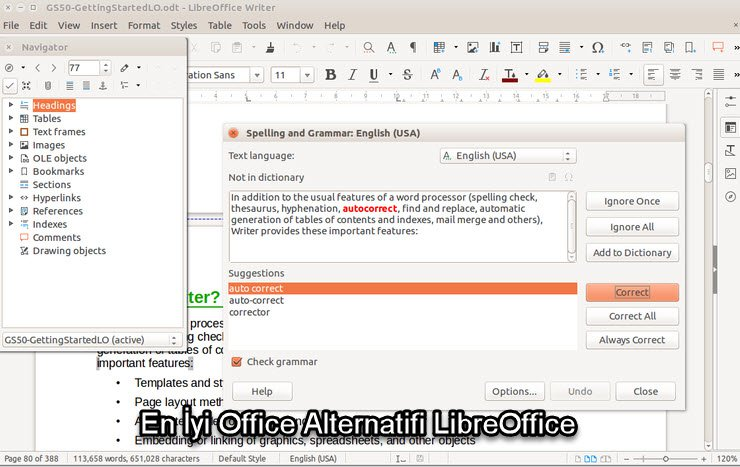 En İyi Office Alternatifi LibreOffice