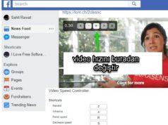 Facebook Video Hızlandırma Yavaşlatma nasıl yapılır
