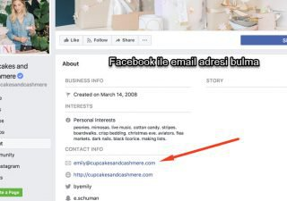 Facebook ile email adresi bulma