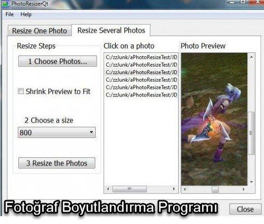 Fotoğraf Boyutlandırma Programı ücretsiz