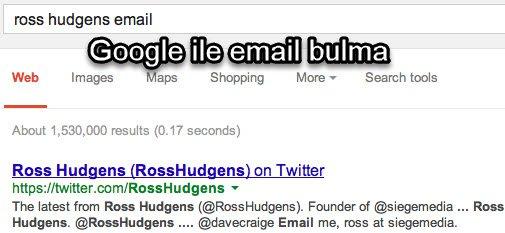 Google ile email bulma
