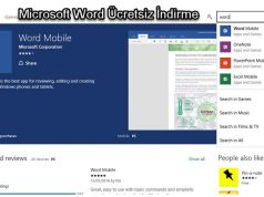 Microsoft Word Ücretsiz İndirme