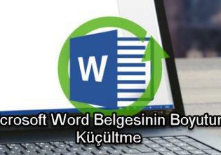 Microsoft Word Belgesinin Boyutunu Küçültme