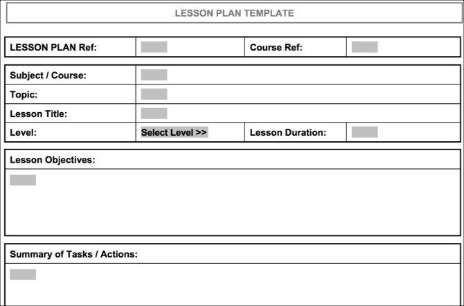 Organized Lesson Plan