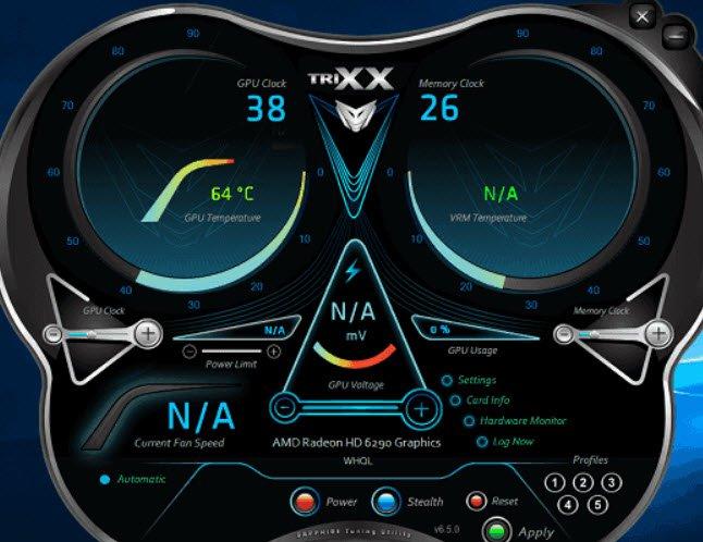 Sapphire Trixx amd ekran kartı hız aşırtma programı