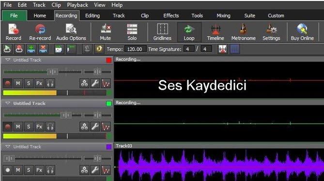 Ses Karıştırma Programı ses kaydedicisi