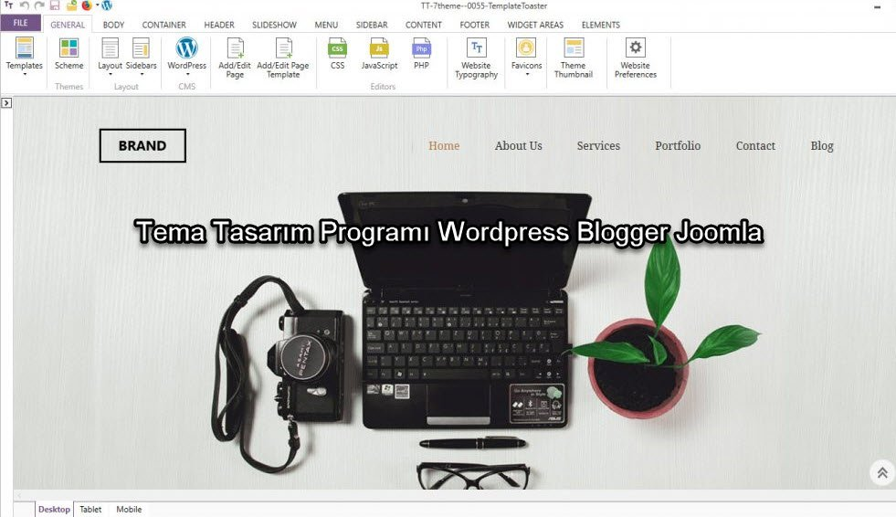 Tema Tasarım Programı Wordpress Blogger Joomla