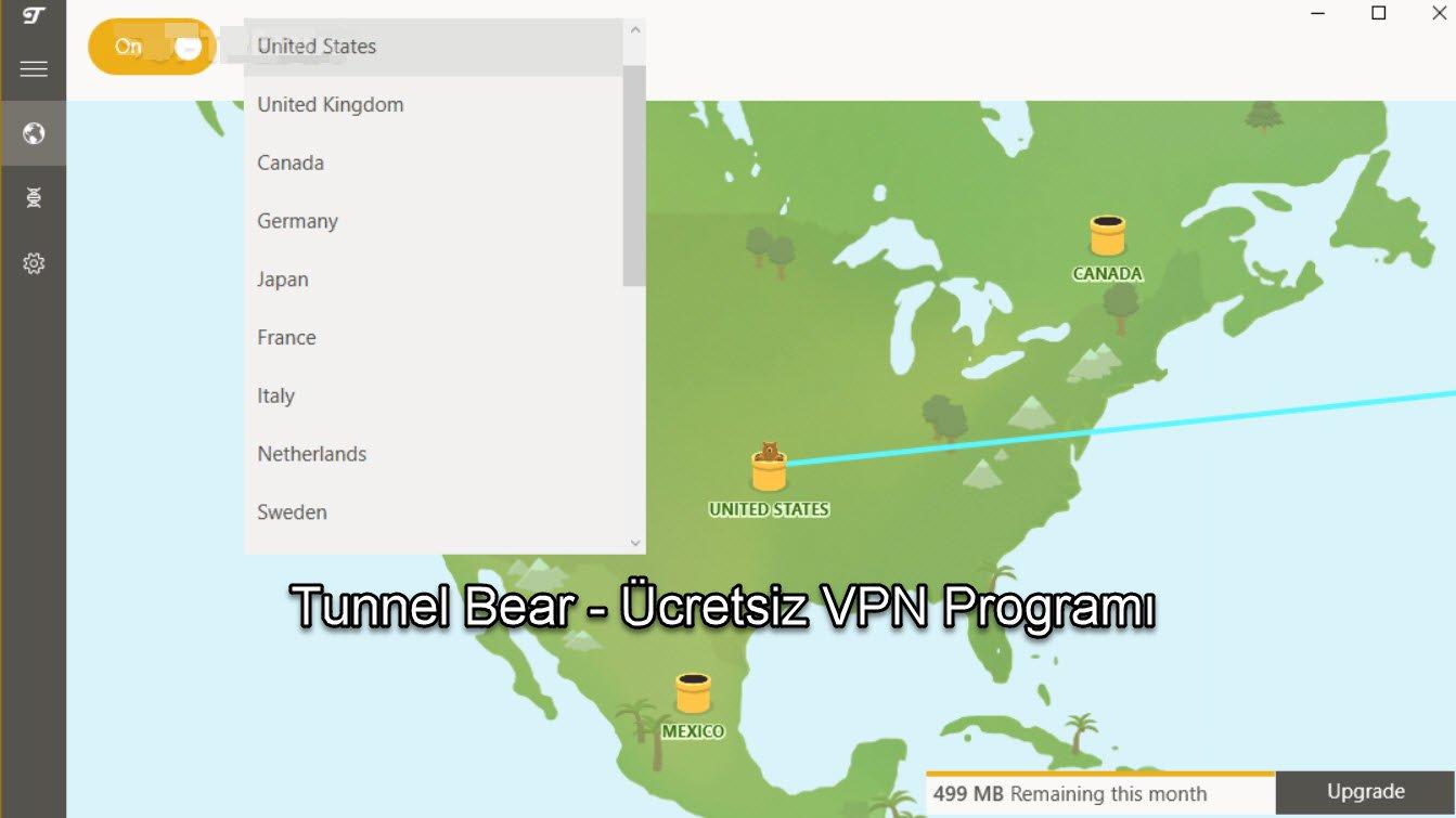 Tunnel Bear - Ücretsiz VPN Programı