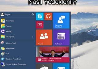 Windows 10 Uygulamalar Nasıl Yedeklenir
