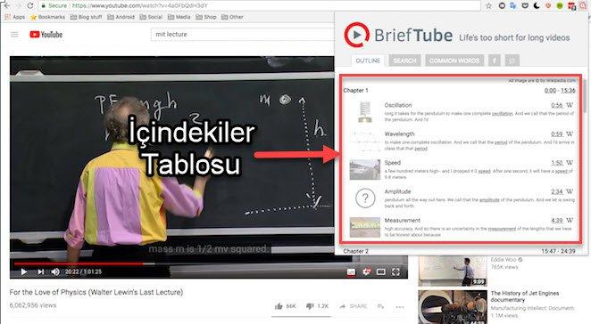 YouTube İçindekiler Oluşturma