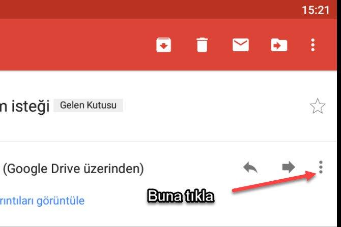 android gmail kişi engelleme