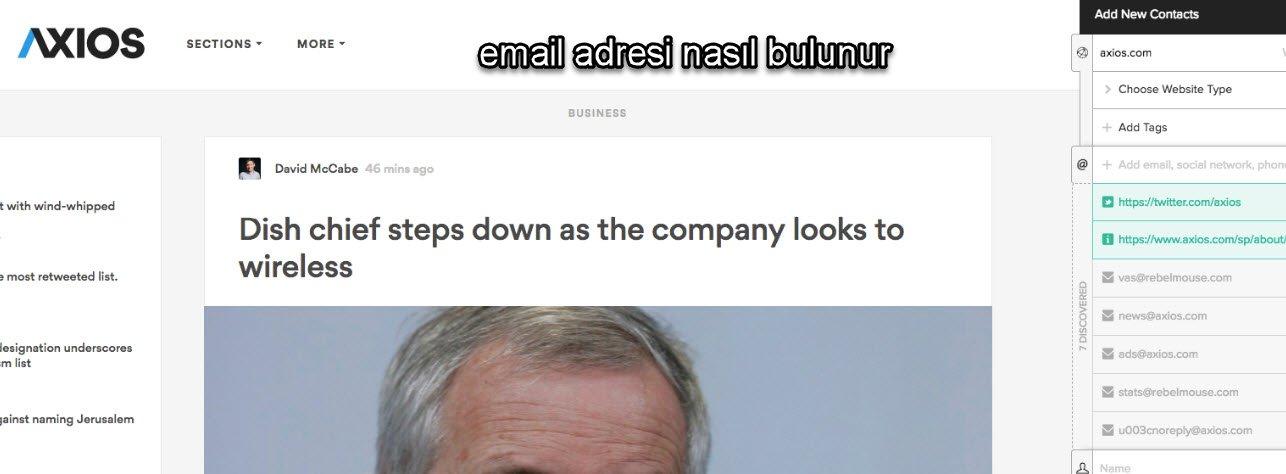 email adresi öğrenme