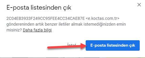 gmail de kişileri engellemek