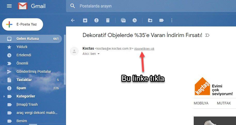 gmail kişi nasıl engellenir haber bülteni