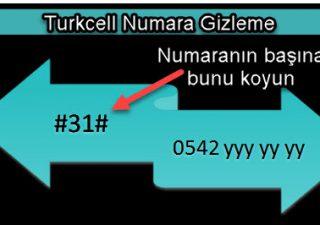 Turkcell Numara Gizleme
