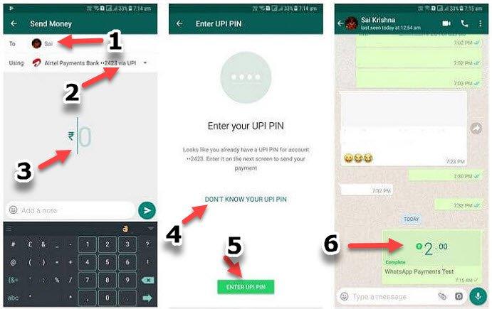 WhatsApp Para Gönderme nasıl yapılır