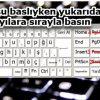 klavye metre kare yazılışı