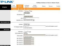 tp link modem arayüz sayfası