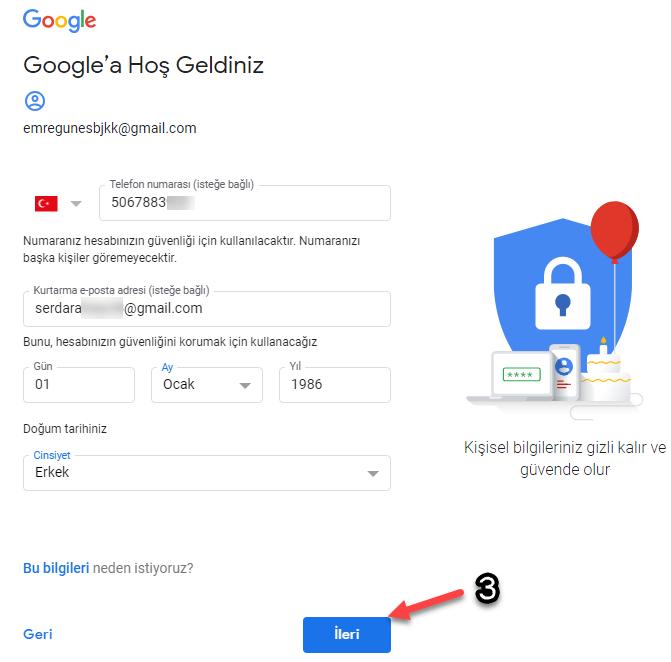 E-Posta Adresi hesabı nasıl açılır
