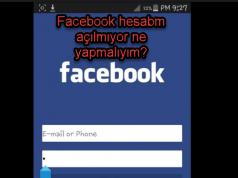 Facebook hesabm açılmıyor ne yapmalıyım?