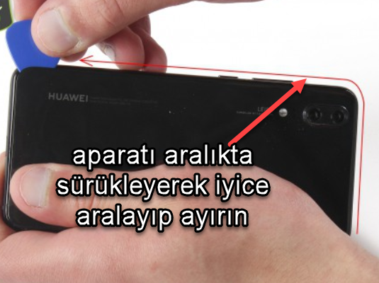 Huawei P20 ekranı değiştirmek resimli anlatım