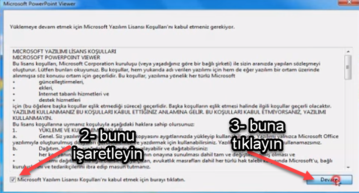Microsoft Office PowerPoint Viewer nasıl kurulur