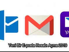 Yeni Bir E-posta Hesabı Açma 2019