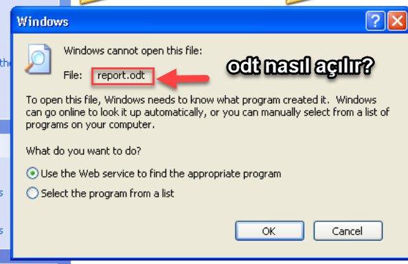 bilgisayarda odt dosyası nasıl açılır