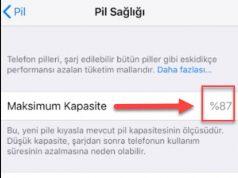 iPhone X'te Pil Sağlığını Kontrol Etme