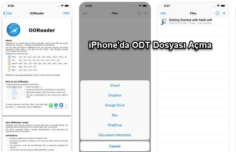 iPhone'da ODT Dosyası Açma